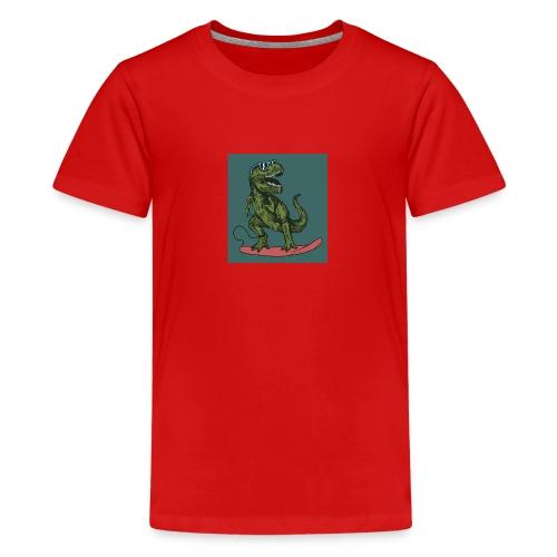 T-rex qui fait du surf - T-shirt Premium Ado