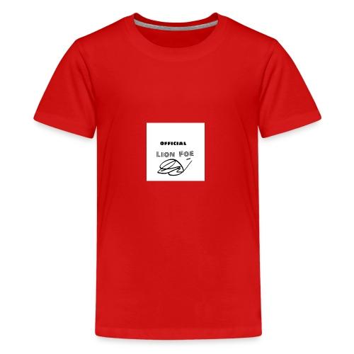 "Lion Foe ""Signature"" - Teenager Premium T-Shirt"