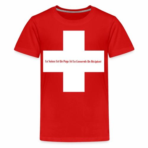 Design Super Suisse - T-shirt Premium Ado