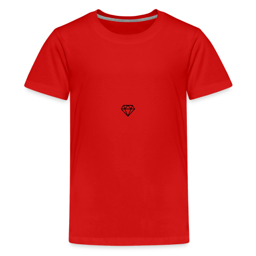 black diamond logo - Teenage Premium T-Shirt