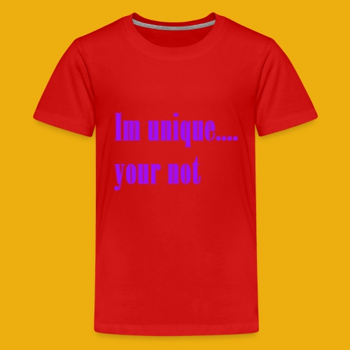 I and H unique merch - Teenage Premium T-Shirt