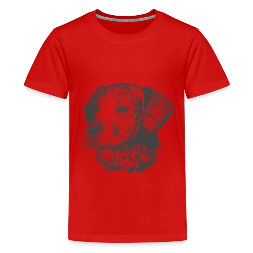 Hund Golen retriever - Teenager Premium T-Shirt