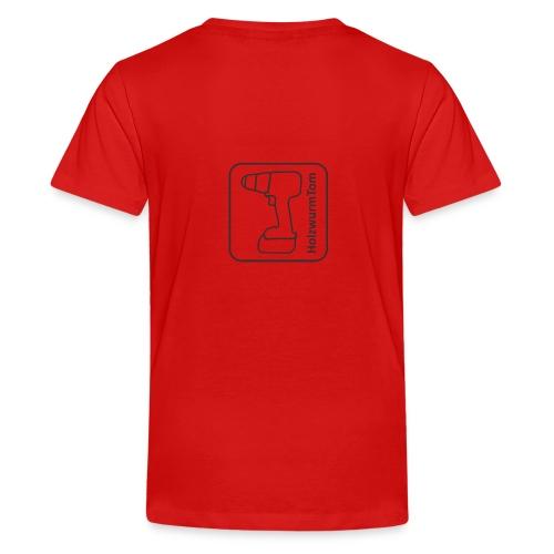 HolzwurmTom Logo grau hinten - Teenager Premium T-Shirt