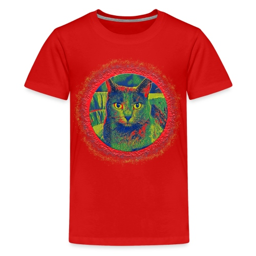 CAT ART AMERA - Teenager Premium T-Shirt
