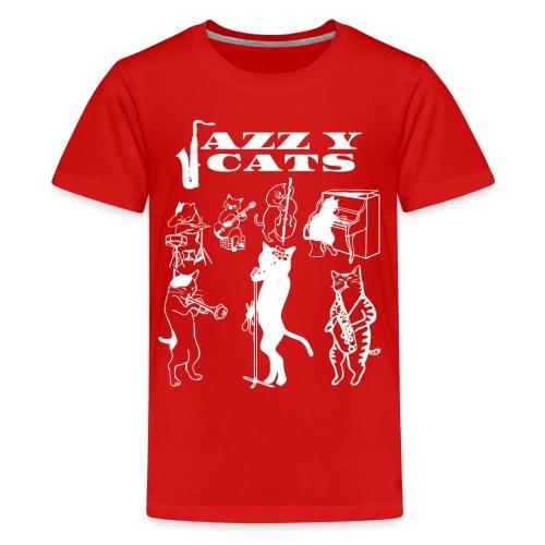 Jazzy Cats - T-shirt Premium Ado