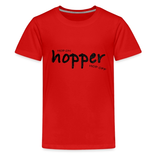 MuchoHop Hop On/Off (black) - Teenage Premium T-Shirt