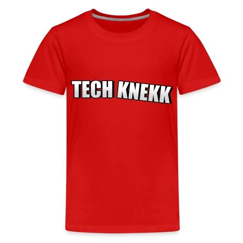 Techknekk logo stor png - Premium T-skjorte for tenåringer