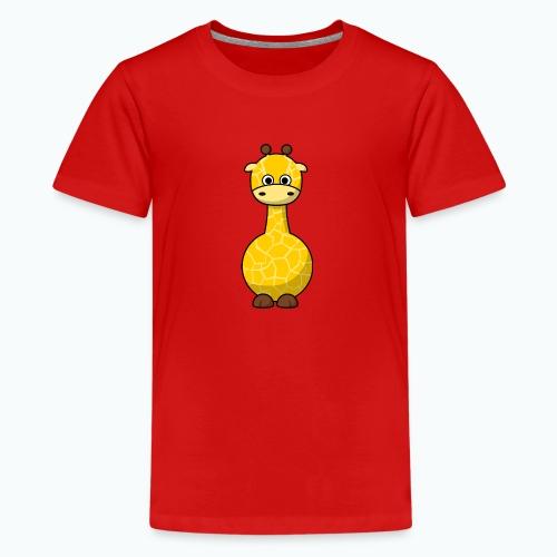 Gigi Giraffe - Appelsin - Premium-T-shirt tonåring