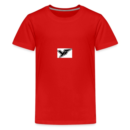 YT LOGO OUTLINE DOPPELT 1 - Teenage Premium T-Shirt