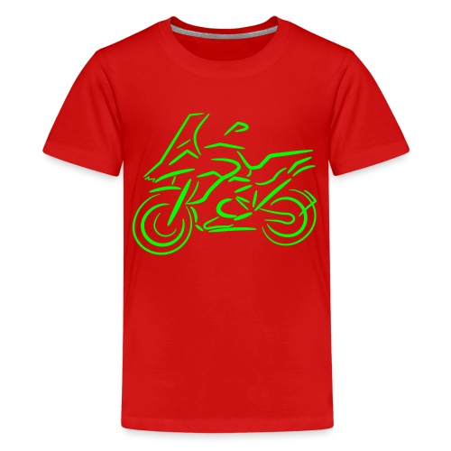 Motorrad Fahrer, Bike, Biker, 1200 - Teenager Premium T-Shirt