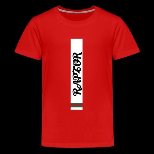 Raptor Sleeve white backround - Teenage Premium T-Shirt