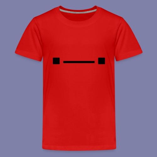 Middle Blocky Face - Teenage Premium T-Shirt