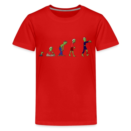 Zombie Evolution - Teenage Premium T-Shirt