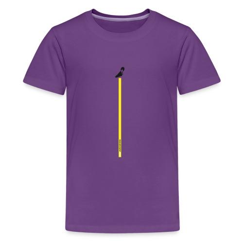 Spreadshirt grafica young inserto basso fondo nero - Maglietta Premium per ragazzi