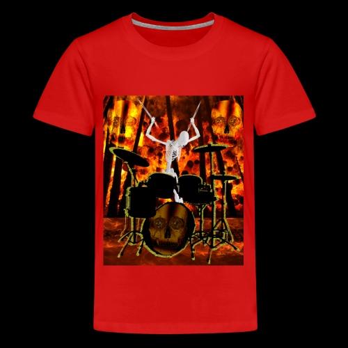 LE SQUELETTE BATTEUR - T-shirt Premium Ado