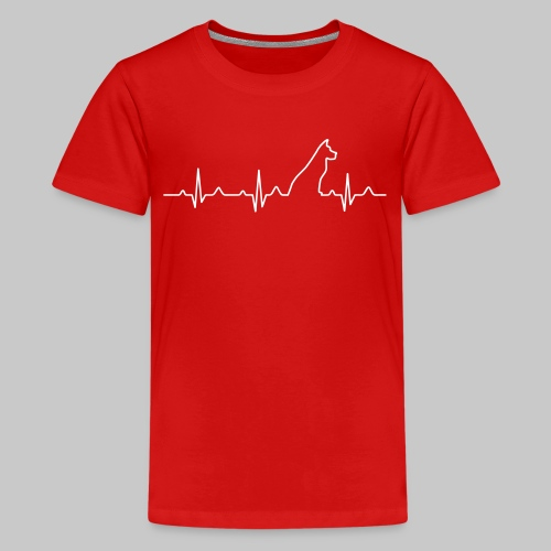 Dog Heartbeat 2 - Teenager Premium T-Shirt