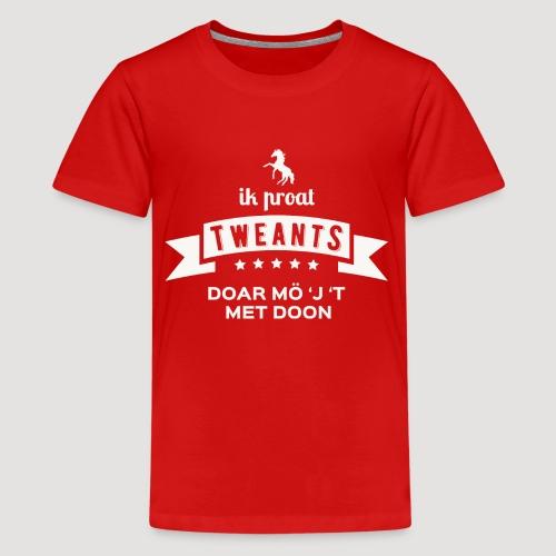 Ik proat Tweants...(lichte tekst) - Teenager Premium T-shirt