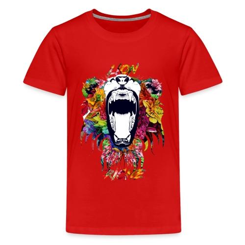 Lion Riche tête de lion ( édition exclusif ) - T-shirt Premium Ado