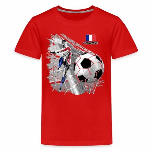FP22F 03 FRANCE FOOTBALL - Teinien premium t-paita