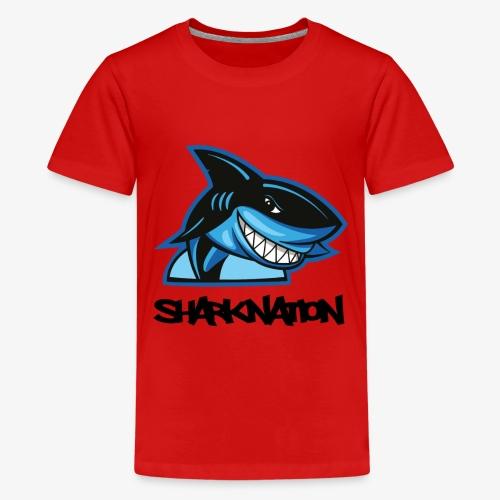 SHARKNATION / Black Letters - Teenager Premium T-Shirt
