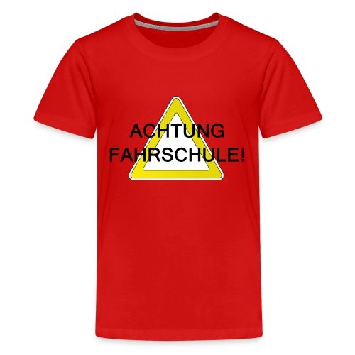Schulweg - Teenager Premium T-Shirt
