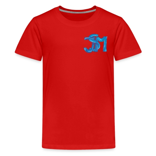 verschlungenes S blau - Teenager Premium T-Shirt
