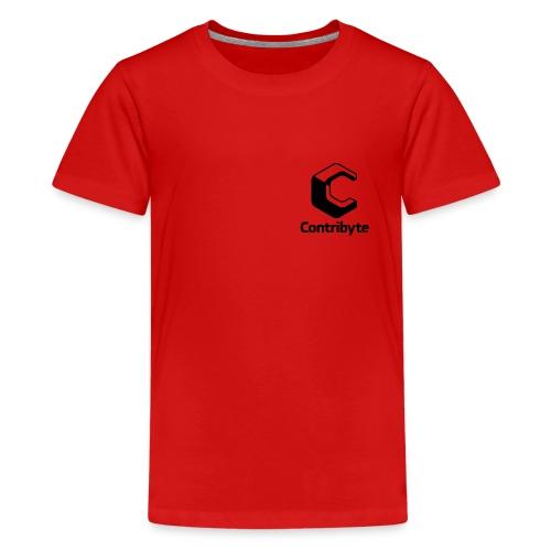 Logo Black - Teinien premium t-paita