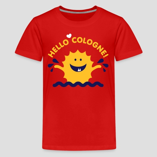 Rhein Monster Hello Cologne - Teenager Premium T-Shirt