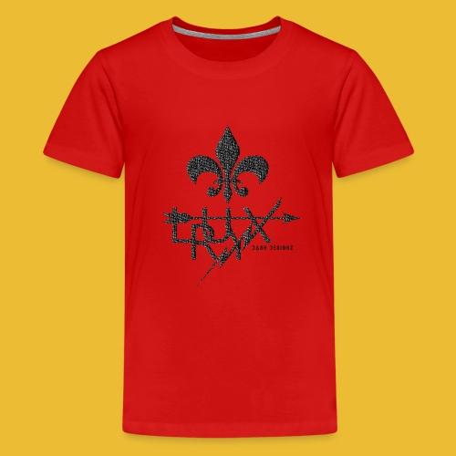 Luxry (Faded Black) - Teenage Premium T-Shirt