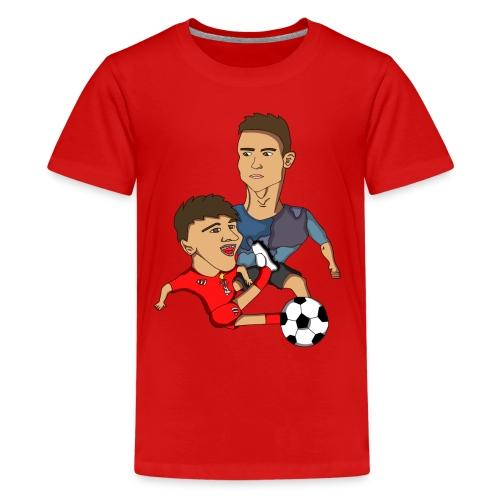 profilbilde gjennomsiktig cropped png - Premium T-skjorte for tenåringer