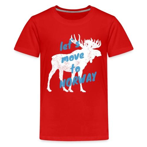 Norwegen Elch Auswandern Umzug Geschenk - Teenager Premium T-Shirt