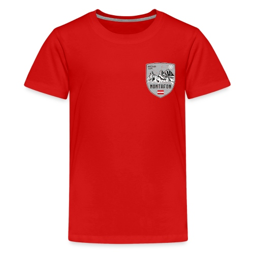 Montafon Austria coat of arms - Teenage Premium T-Shirt