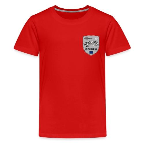 Alaska USA coat of arms - Teenage Premium T-Shirt