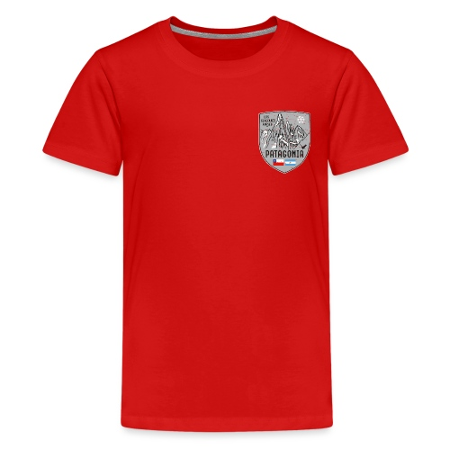 Cerro Torre Patagonia coat of arms - Teenage Premium T-Shirt