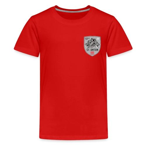 St. Anton Austria coat of arms - Teenage Premium T-Shirt