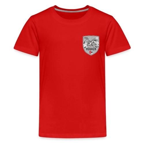 Eiger, Mönch und Jungfrau mit Mürren Flagge - Teenage Premium T-Shirt