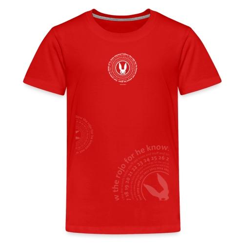 follow the circle white - Teenage Premium T-Shirt