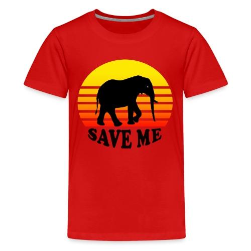Elefant SAVE ME Schattenriss Sonne - Teenager Premium T-Shirt
