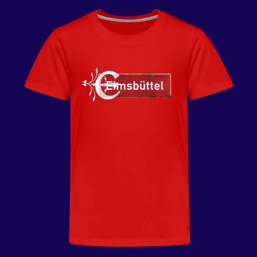 Hamburg- Eimsbüttel: Ortsschild mit Tattoo Initial - Teenager Premium T-Shirt