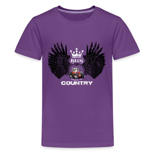 WINGS King of the country zwart wit op rood - Teenager Premium T-shirt