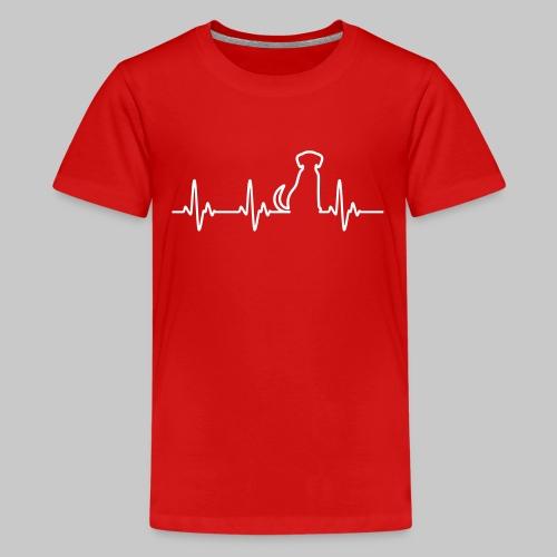Hunde Herz - Teenager Premium T-Shirt