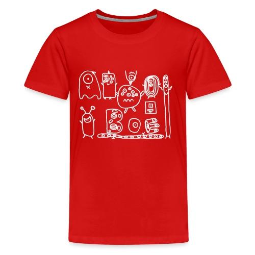 monsters-wit - Teenager Premium T-shirt