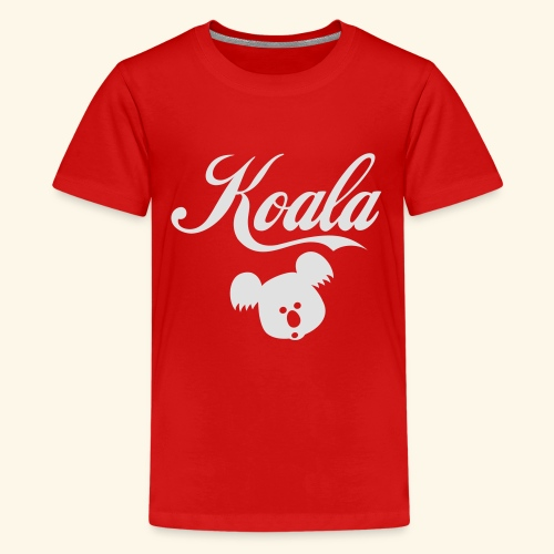 Koala Kawaii Comic Design für Australien Fans - Teenager Premium T-Shirt
