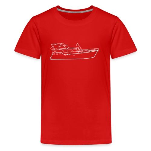 Hausboot Weiss - Teenager Premium T-Shirt