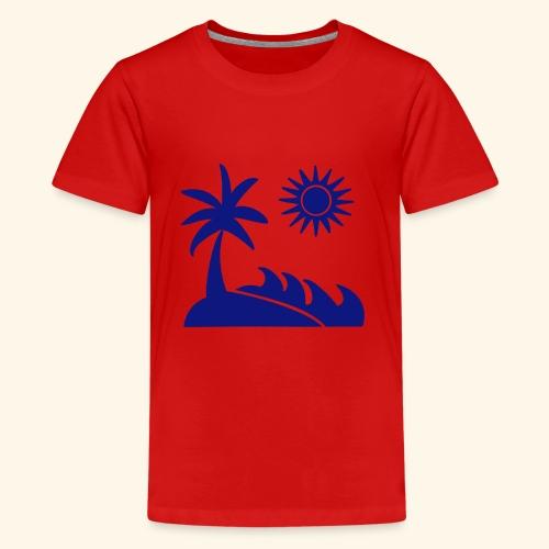 Palme, Meer, Sonne, Strand - Teenager Premium T-Shirt
