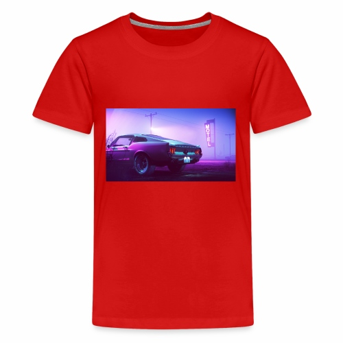 purple scorpion car - Koszulka młodzieżowa Premium