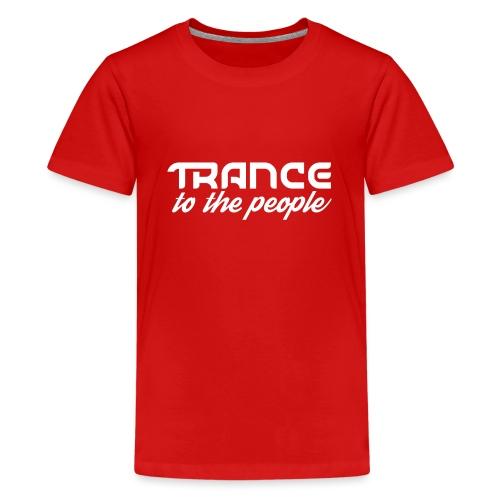 Trance to the People Hvidt Logo - Teenager premium T-shirt