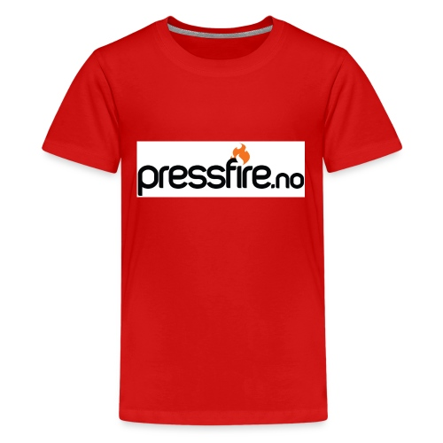 PFlogohvit jpg - Premium T-skjorte for tenåringer