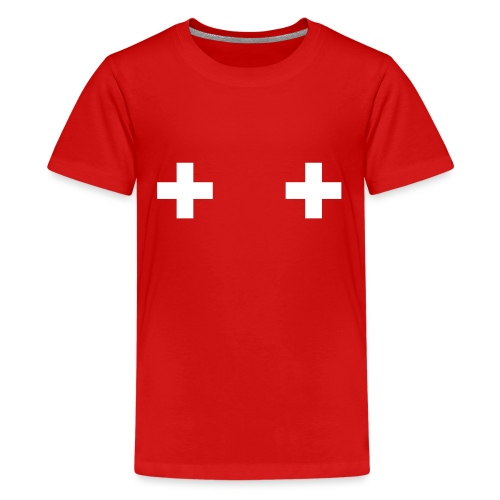 Swiss Boobs - T-shirt Premium Ado