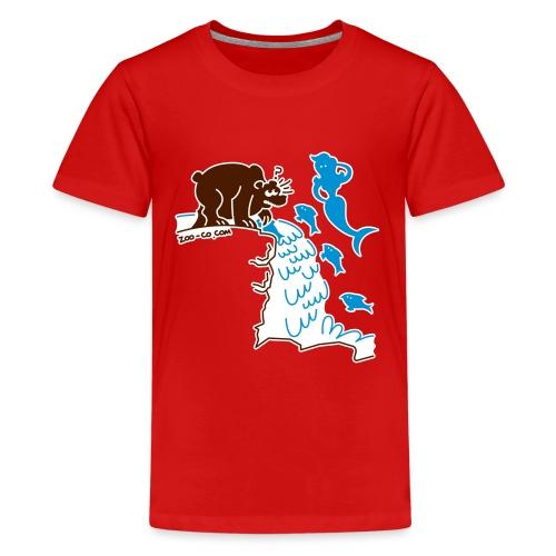 Surprised Bear - Teenage Premium T-Shirt